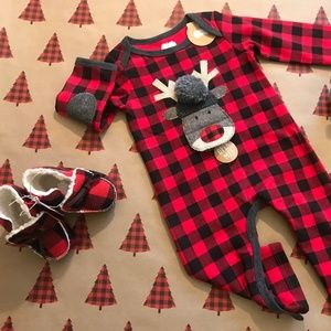 Buffalo Check Reindeer One Piece